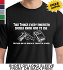 2nd Second Amendment Two Things Gun And Bible AR15 Political New Mens T Shirt