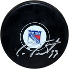 Steiner Cam Talbot Signed NY Rangers Puck