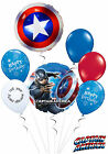 Captain America Symbol Birthday Balloon Bouquet Party Decorations