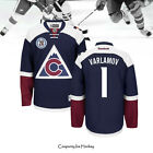 Colorado Avalanche Semyon Varlamov Hockey Jersey 1 Navy 20th Anniversary