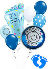Baby Shower Boy Balloon Bouquet Blue Decorations New Arrival