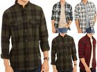 Mens  Longsleeve Button Down Plaid Flannel Collar Shirt