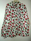 NWT NIGHT PALS COTTON FLANNEL PAJAMA SET STRAWBERRIES & BLACKBERRIES  S M or L