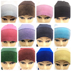 Stylish Under Scarf Bonnet Plain Lace Tube Cap Turban Hat for Hijab Head Scarf