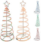 5Ft Flashing 3D Spiral Christmas Tree Rope Light Silhouette Red Blue Green Multi