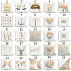 Sofa Gold Shining Printed Polyester Throw Pillow Case Cushion Cover Home Decor image