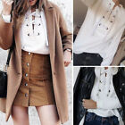 Fashion Women Long Sleeve Sweatshirt Sweater Casual Lace-up Pullover Tops Blouse