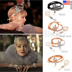 1920s Flapper Great Gatsby Headpiece Headband Bracelet Ring Set Hair Accessories
