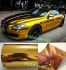 All Sizes - Entire Car Glossy Mirror Chrome Gold Vinyl Wrap Film Sheet Sticker