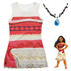 Moana Girls Kid Costume Clothes Princess Sleevelesss Party Cosplay Dress Outfits