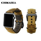 42mm Apple Watch Genuine Vintage Asso Calf Leather Strap For iWatch Series 3/2/1