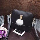 New Women PU Leather Satchel Handbag Shoulder Tote Messenger Crossbody Bag Black