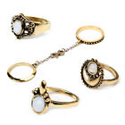 5pcs Silver Boho Women Stack Plain Above Knuckle Fing Midi Finger Tip Fings SetF