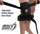 OmniBrace-Adjustable Patella Wraparound Hinged Knee Support Brace Sizes M to 3XL