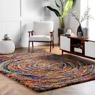 area rugs st catharines - nuLOOM Modern Geometric Shag Area Rug in Multi Red, Yellow, Blue, Green