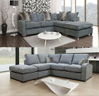 Hula Fabric Fernando Corner Sofa Grey Left Right Scatter Back Sofas Solid Wood