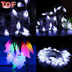 4.8m Battery Powered Ghost Fairy String Lights 20 Warm White LED Halloween Lamps