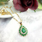 18k Gold Filled Dainty Teardrop Jade Pendant Necklace Chain 45 cm, Gift Box