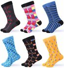 Gallery Seven Mens Dress Socks. Funky Colorful Socks for Men - 6 Pack