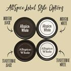 AllSpice 280 Preprinted Water Resistant Round Spice Jar Labels Set 1.5""