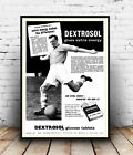 Dextrosol  : Vintage Energy tablet advert, Wall art ,poster, Reproduction.