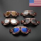 Motorcycle Goggles Steampunk Copper Frame Cruiser Helmet Anti Dust Wind Glasses
