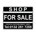 SHOP FOR SALE Correx Sign Boards Estate Agent Property Signs X 2 (CORCP00026)