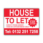 House To Let Correx Sign Boards Estate Agent Property Signs X 2 (CORCP00035)
