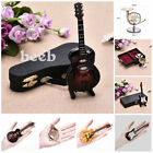 Art Wooden Classic Guitar Model Musical Instruments Decor Gifts W/Support Mini