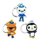 3pcs Octonauts Cartoon Figure Key Chain PVC Key Ring Key Holder Pendant Kids Toy