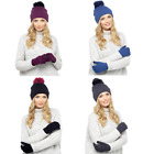 LADIES BOBBLE HAT & TOUCHSCREEN GLOVE SET