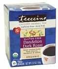 Teeccino Organic Chickory Herbal Tea Dandelion Dark Roast -- 10 Tea Bags
