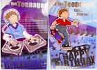 "Boy's Large ""TEENAGER"" Birthday Cards ~ Decks or Skateboard"