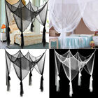 New 4 Corner Post Bed Canopy Mosquito Net Full Queen King Size Netting Bedding