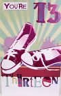 "Girl's ""13 th"" Birthday Card ~ Pink Pumps"