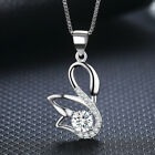 Hot!Women Fashion Swan Necklace Ladies Jewelry Modern Crystal Pendant ZD2008