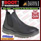 Mongrel FIRE STATION EASY ESCAPE WORK BOOTS Soft Toe, Black Oiled Leather 940020
