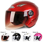 24 Colors DOT Motorcycle Half Face Helmet with Full Face Shield Visors Brand New