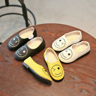 Cute Girls Casual Soft Shoes Smilling Face Pattern Flats Shoes Fashion Kid Shoes
