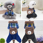Cute Bear Casual Jumpsuit Puppy Small Dog Cat Warm Coat Winter Cosplay Clothes