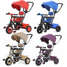 4 In 1 Easy Tricycle Kids Trike With Rotating Seat & Rubber Tyres