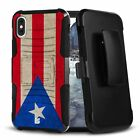 PUERTO RICO Hybrid Belt Clip Case for iPhone 12 11 XS MAX XR 8 7 6 Series