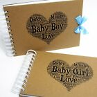 Personalised Baby Shower  A5 A4 Scrapbook, New Born, First Year, Photo Album