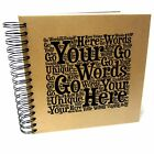 Personalised Word A3/A4/A5/Square Art Scrapbook, Photo Album, Guestbook, Gift