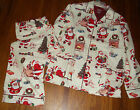 NEW NICK & NORA PAJAMA SET VINTAGE SANTA & TOYS PRINT MENS   L or M
