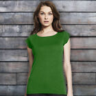 LADIES LEAF GREEN T-SHIRT TOP BAMBOO AND ORGANIC COTTON JERSEY ON TREND 2017