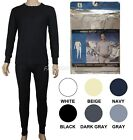Men's Thermal Pajama 2 Piece Set 100% Cotton Comfortable Warm Sizes M-2XL New