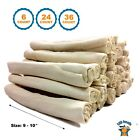 """Rawhide Retriever Roll 9-10"""" -100% Natural Beef-Hide Rolls for dogs - 123 Treats"""