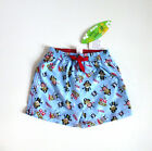 Baby Boy's Swim Shorts - Pale Blue Pirate Design- Ages 3-6,6-9 & 9-12 months-NEW