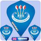 Dart Flights - Winmau - Kite Poly - 75 Micron - Strong - Kite - BDO Blue & Black